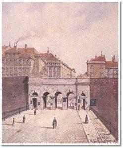 La medioevale Porta degli Scozzesi di Vienna (1911)