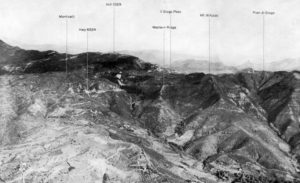 Giogo pass aerial view - 1944