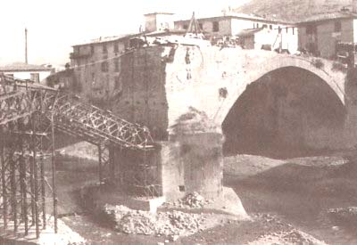 The Medici's Bridge crossing the Sieve river between San Francesco and Pontassieve