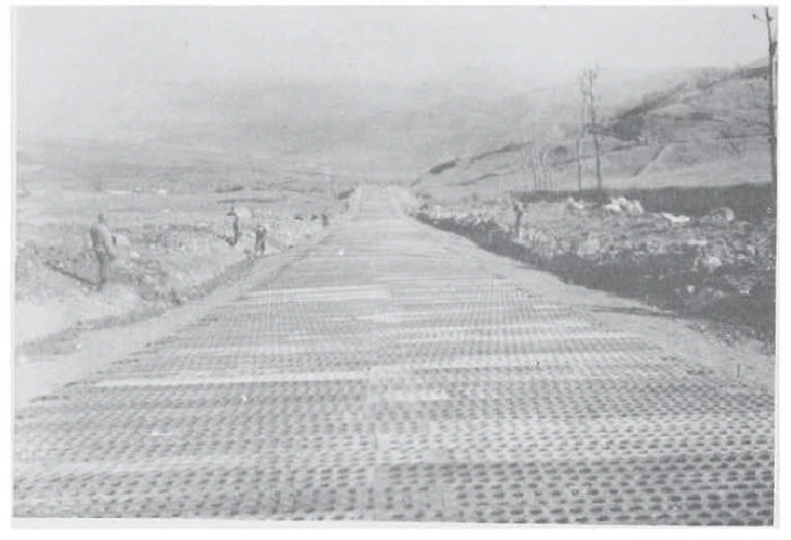 Photo 12 – Air strip built by 185th Engineers near Futa Pass