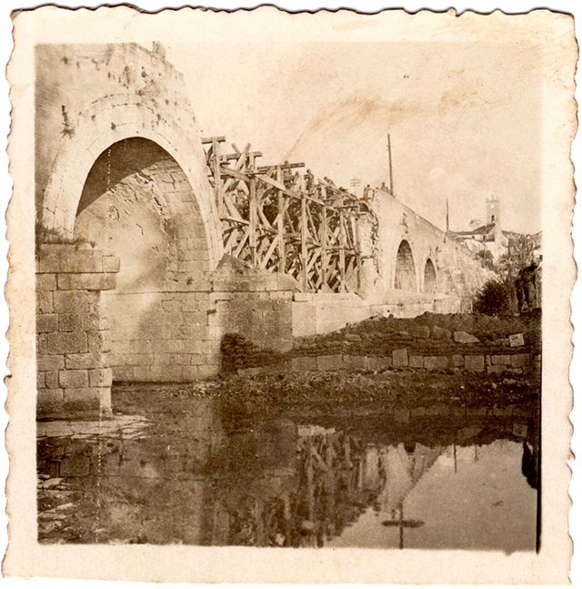 Grottaminarda Bridge in a picture taken by John Francis Griffing - Used with the permissions of Sean Michael Griffing.