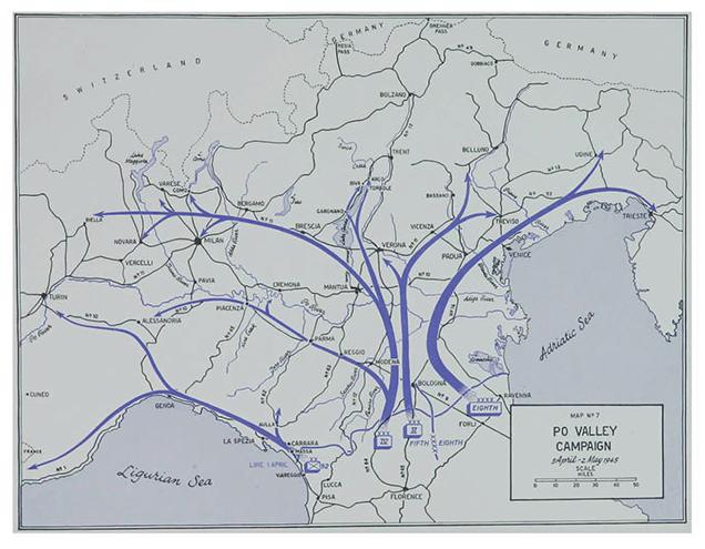 La campagna Po Valley - 5 Aprile 2 Maggio 1945