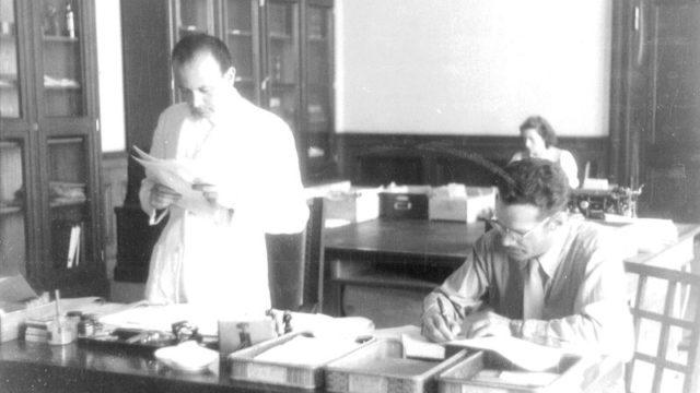 Rodolfo Siviero al Central Collecting Point di Monaco di Baviera nel 1947