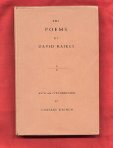 The Poems of David Raikes – Fantasy press 1954